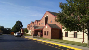 peoria-heights-School Architecture-MMLP-parking lot side